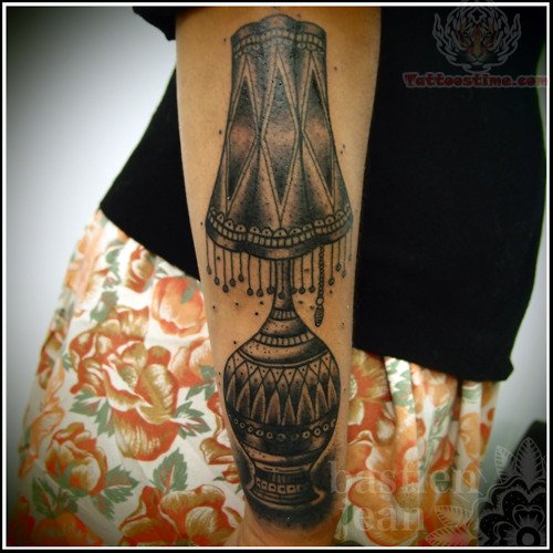 Awesome Lamp Tattoo On Arm
