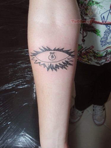 Lighting Bulb Eye Tattoo