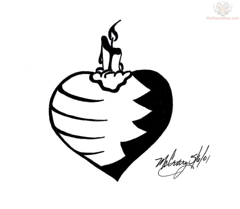 Black And White Heart Tattoo Designs Black Heart Tattoo Designs For