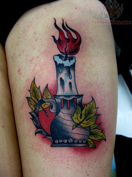 Candle Tattoo Images Amp Designs