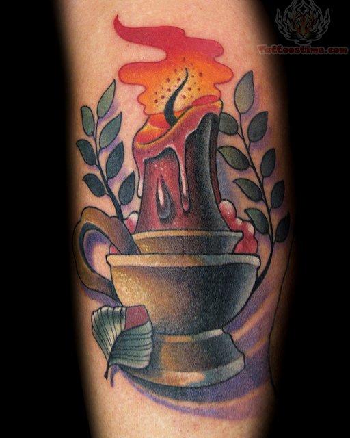 fire light candle tattoo. Black Bedroom Furniture Sets. Home Design Ideas