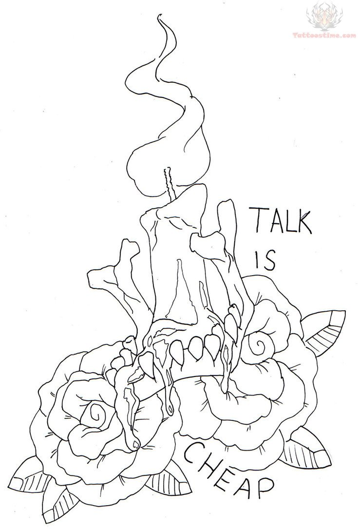 Talk Is Cheap Candle Tattoo