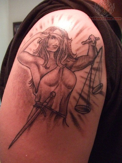 Tattoo Lady Justice: Lady Justice Tattoo On Shoulder