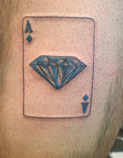 diamond card tattoo
