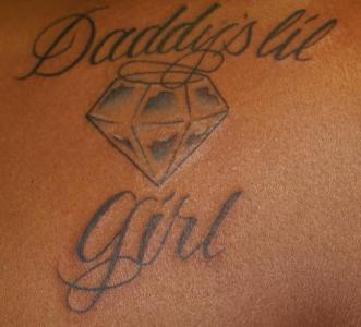 Daddy s girl diamond tattoo for Daddys girl tattoo