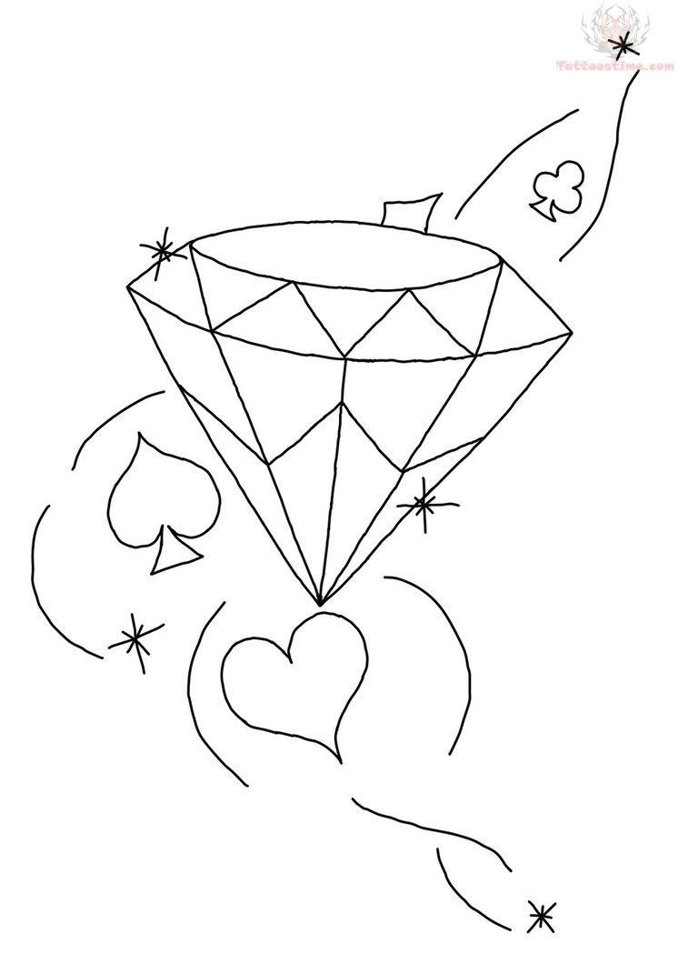 Diamond Tattoo Images & Designs