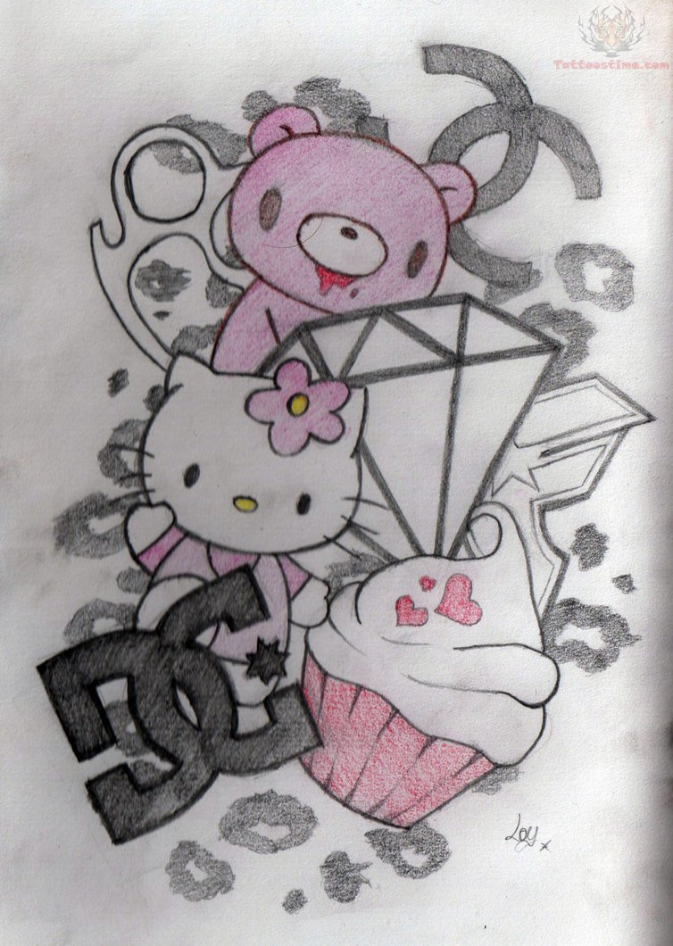 Cupcake Diamond Tattoo Design