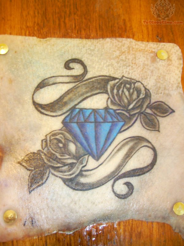 Diamond And Rose Tattoo Drawing