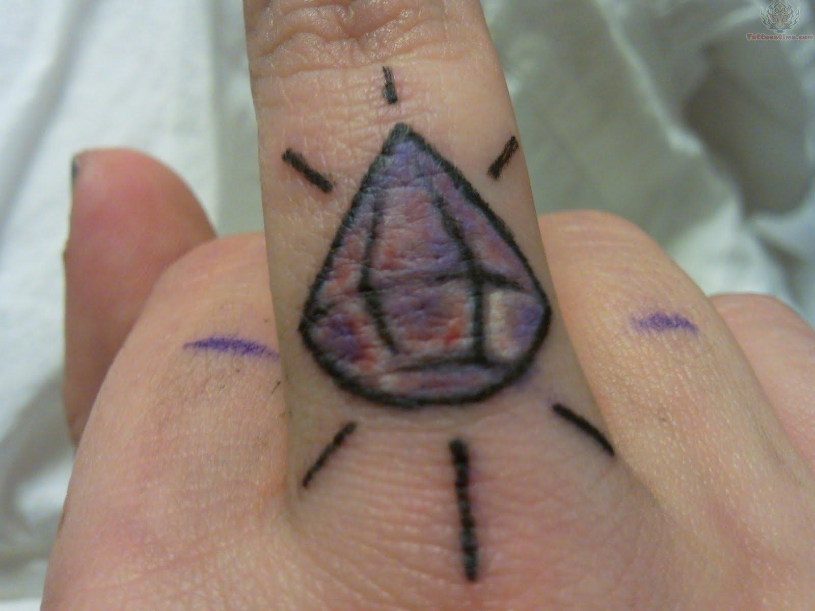 36a14cf6eea94 Ceker: Diamond Tattoo On Finger