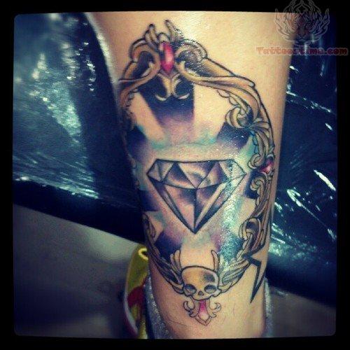 Crystal Skull Tattoo Skull And Diamond Tattoo