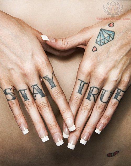 stay true diamond tattoo on hand. Black Bedroom Furniture Sets. Home Design Ideas