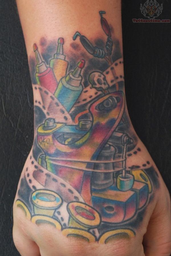 Cinema Art Tattoo On Hand