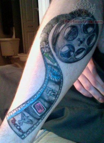 Film Tattoo On Leg