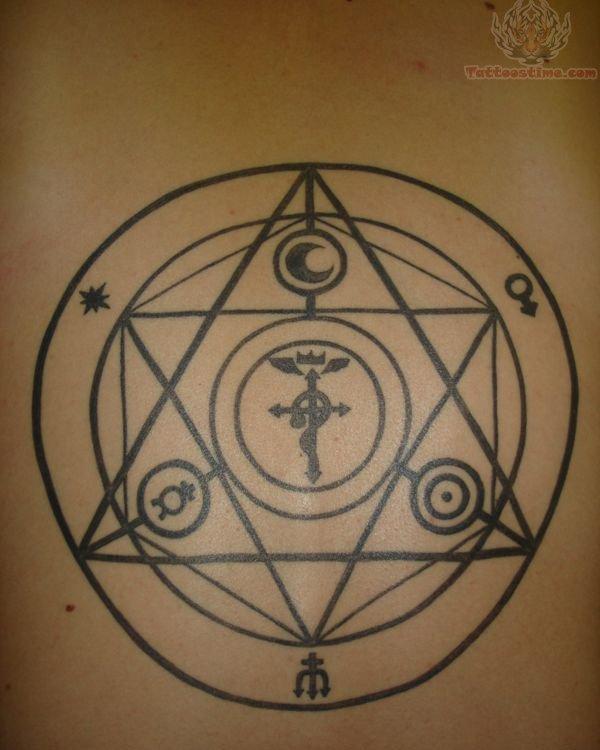 Circle tattoo images designs for Circular symbols tattoos