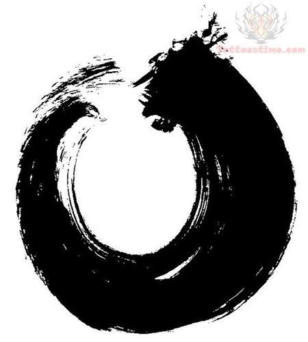Zen Circle Symbol Tattoos Design