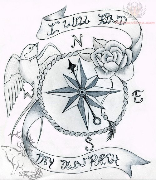 tattoo idea nature compass tattoo pinterest