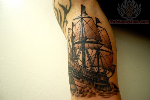 pirate ship compass tattoo. Black Bedroom Furniture Sets. Home Design Ideas