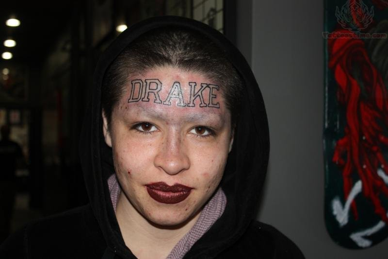 ... com img src http www tattoostime com images 236 forehead drake tattoo