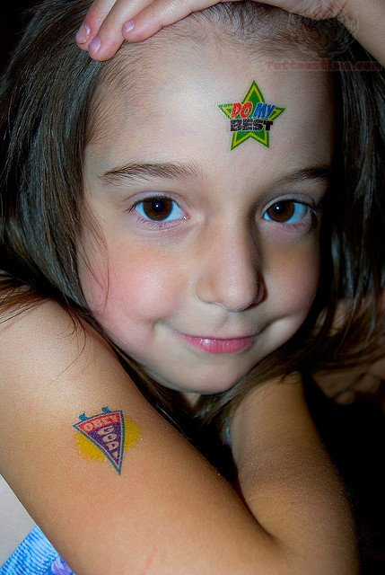 Star Tattoo On Forehead