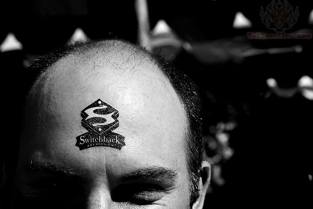 SwitchBack Forehead Tattoo