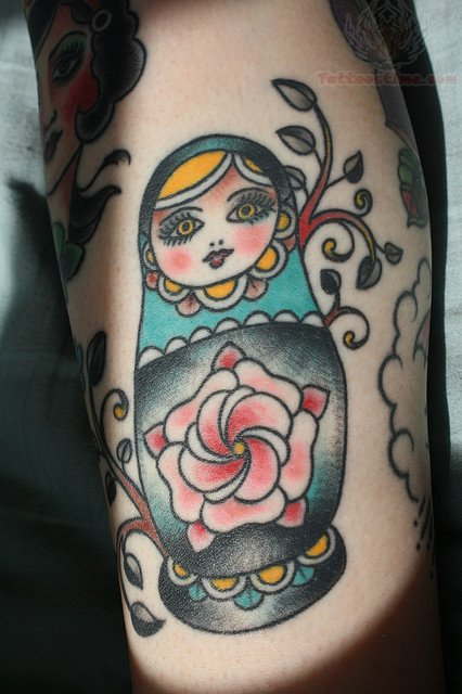 beautiful matryoshka doll tattoo. Black Bedroom Furniture Sets. Home Design Ideas