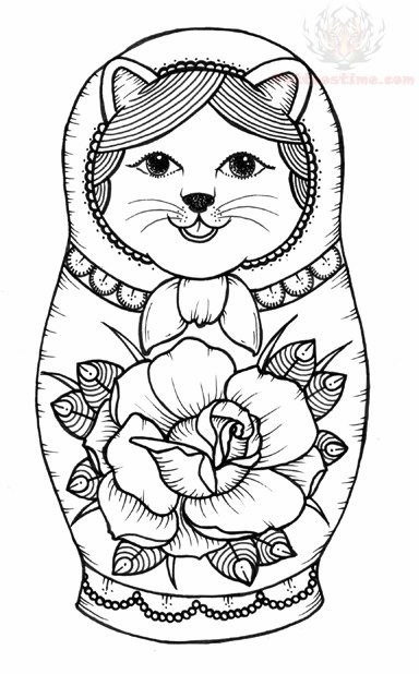 babushka coloring pages - photo#40