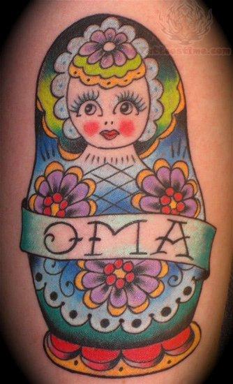 Oma Matryoshka Tattoo