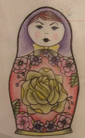 Russian Nesting Doll Tattoo Design