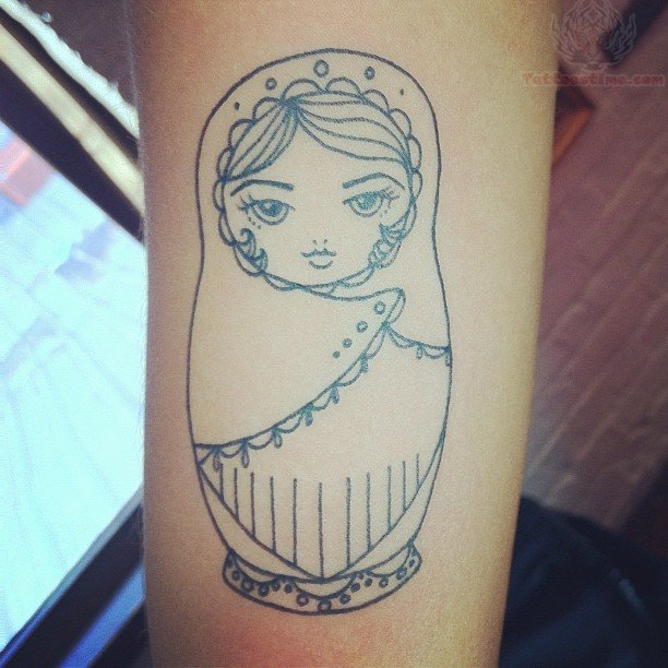 Simple Matryoshka Tattoo