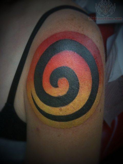 spiral tree tattoo on arm. Black Bedroom Furniture Sets. Home Design Ideas