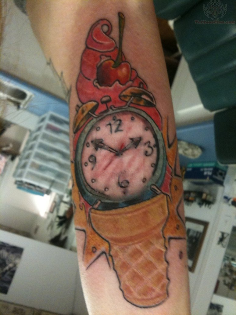 Ice cream watch tattoo for What cream to use on tattoo