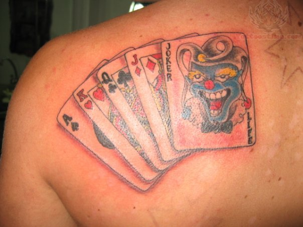 online casino game tattoo designs joker card. Black Bedroom Furniture Sets. Home Design Ideas