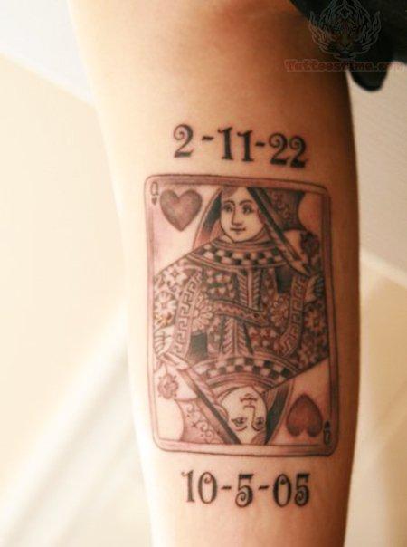 Queen Card Tattoo