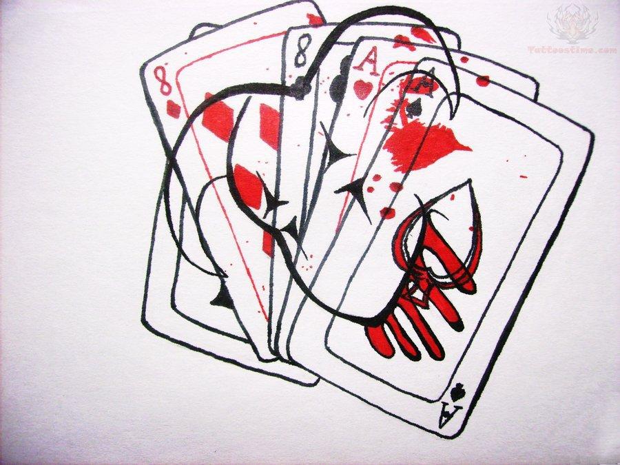 Cards Symbol Tattoo Devil Poker Card Tattoo