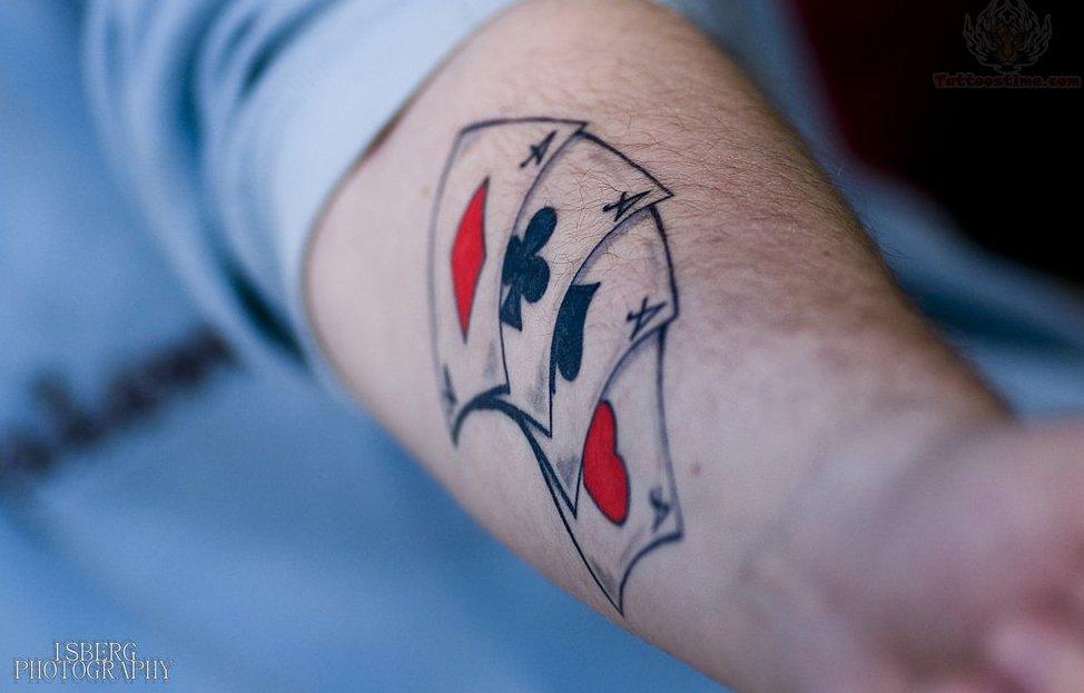 Poker Tattoo Images & Designs Capricorn Neck Tattoo
