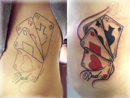 Poker tattoo images designs for Card tattoo designs