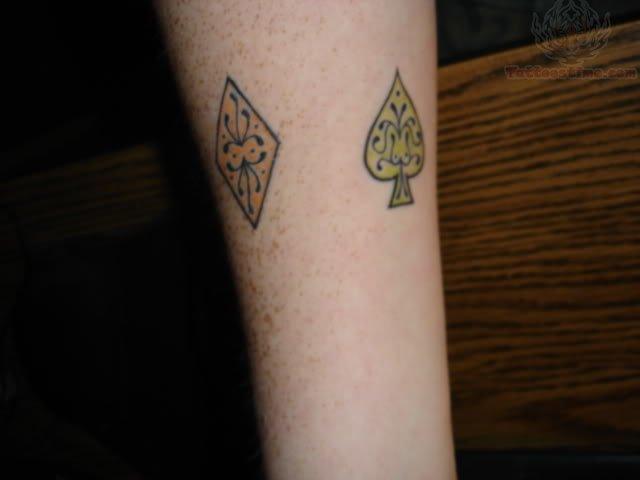 Cards Symbol Tattoo Poker Card Symbol Tattoo