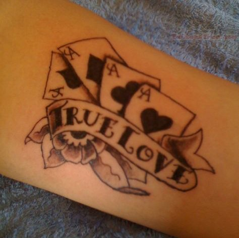 Poker tattoo images designs for True love tattoos