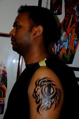 Sikh Symbol Khanda Tattoo