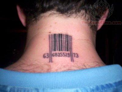Barcode Tattoo Neck Barcode Tattoo On Back...