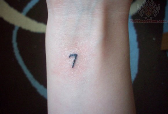 Lucky Number 7 Tattoo On Wrist
