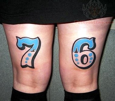 Number 7 Tattoo Designs Number 7 and 6 tattoosNumber 1 Tattoo Designs