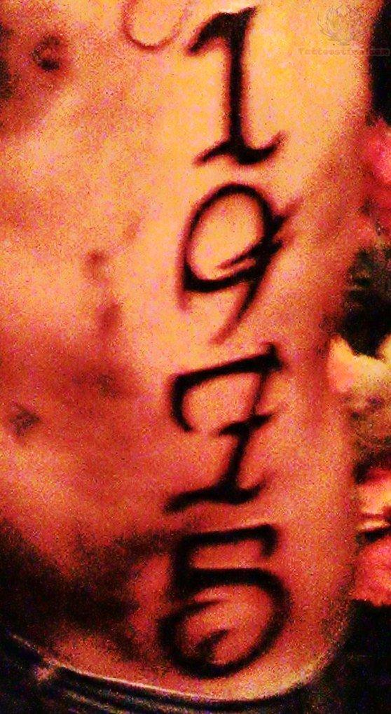number tattoo images designs. Black Bedroom Furniture Sets. Home Design Ideas