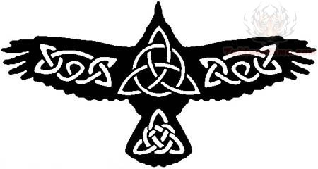 Celtic Crow Tattoo Design