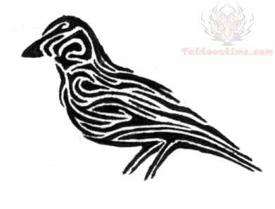 tribal crow tattoo design. Black Bedroom Furniture Sets. Home Design Ideas