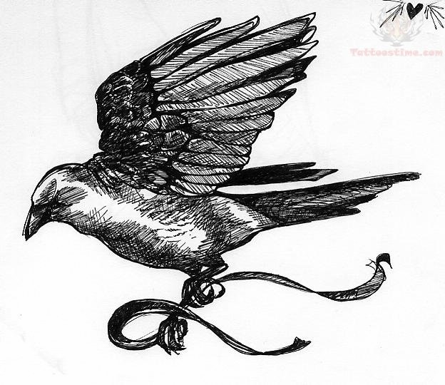 ... crow drawing for kids raven tattoo drawing flying crow drawing crow