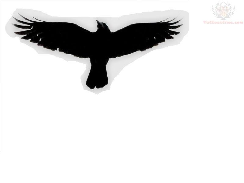 Flying crow tattoos - photo#28