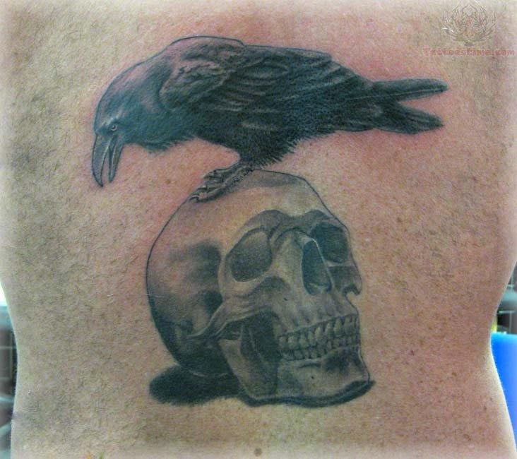 Crow Skull Tattoo