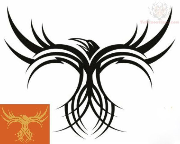 Tribal Bird Tattoo For Men