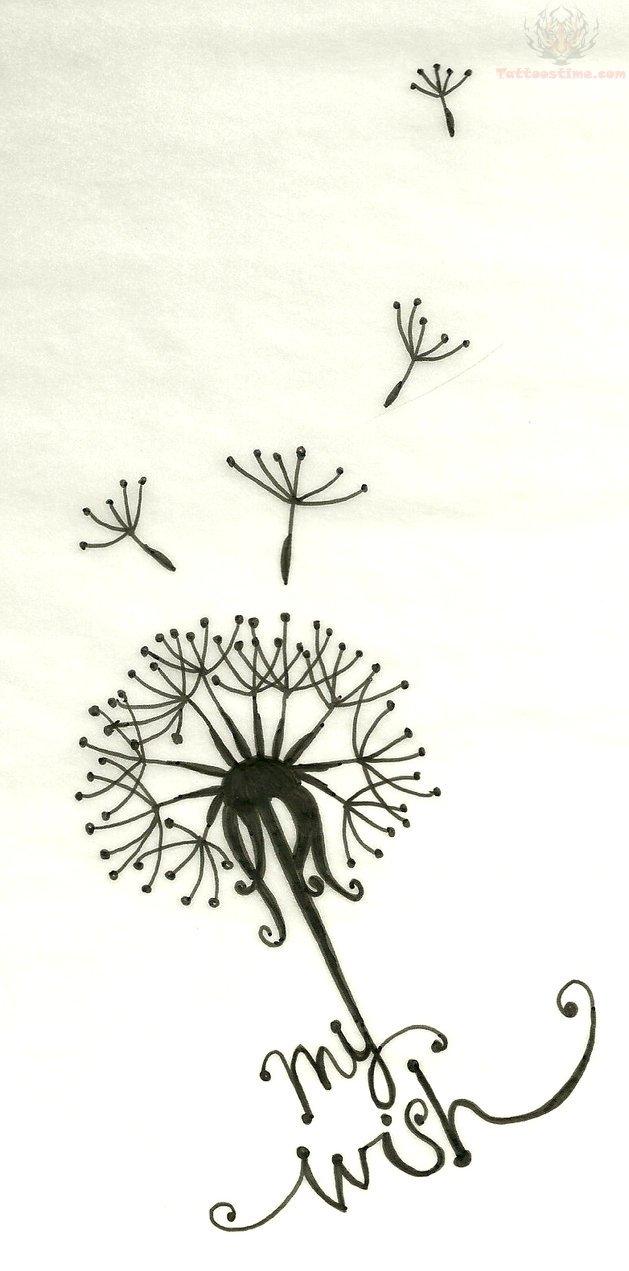 my wish dandelion tattoo design. Black Bedroom Furniture Sets. Home Design Ideas